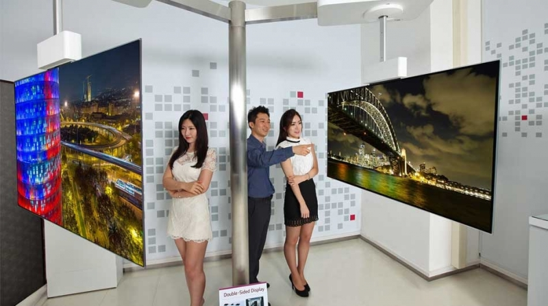 Двухсторонний OLED LG телевизор