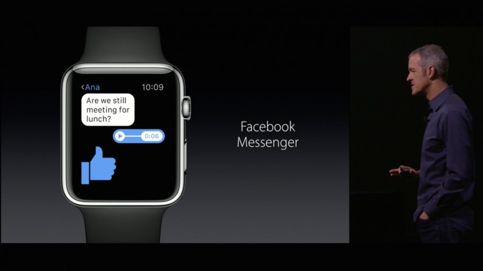 Facebook Apple Watch